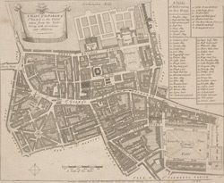 A mapp of the parish of St Giles's in the Fields (1755)